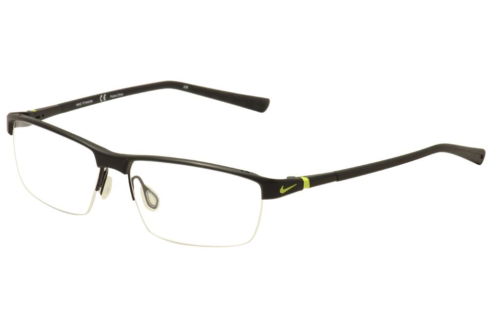 Nike Men\'s Eyeglasses 6052 Half Rim Titanium Optical Frame