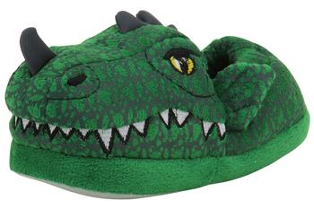 Stride Rite Toddler/Little Boy's Green Lighted Dragon Light Up Slippers Shoes
