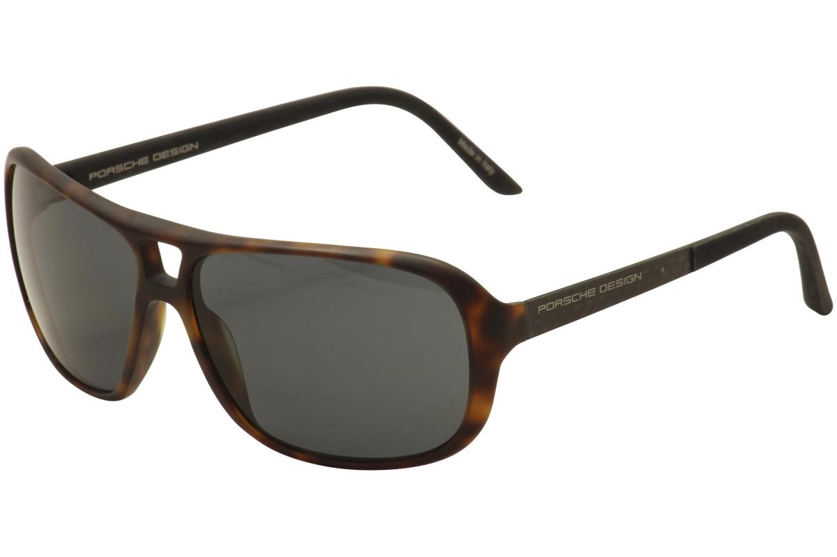Image of Porsche Design Women's P'8557 P8557 Fashion Pilot Sunglasses - Brown - Lens 60 Bridge 13 Temple 130mm