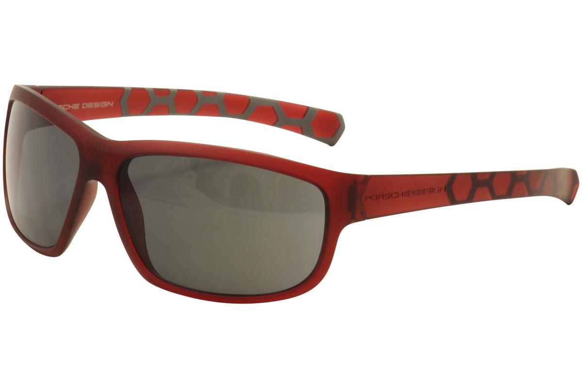 Image of Porsche Women's P'8538 P8538 C Fashion Sunglasses - Red - Lens 67 Bridge 14 Temple 135mm
