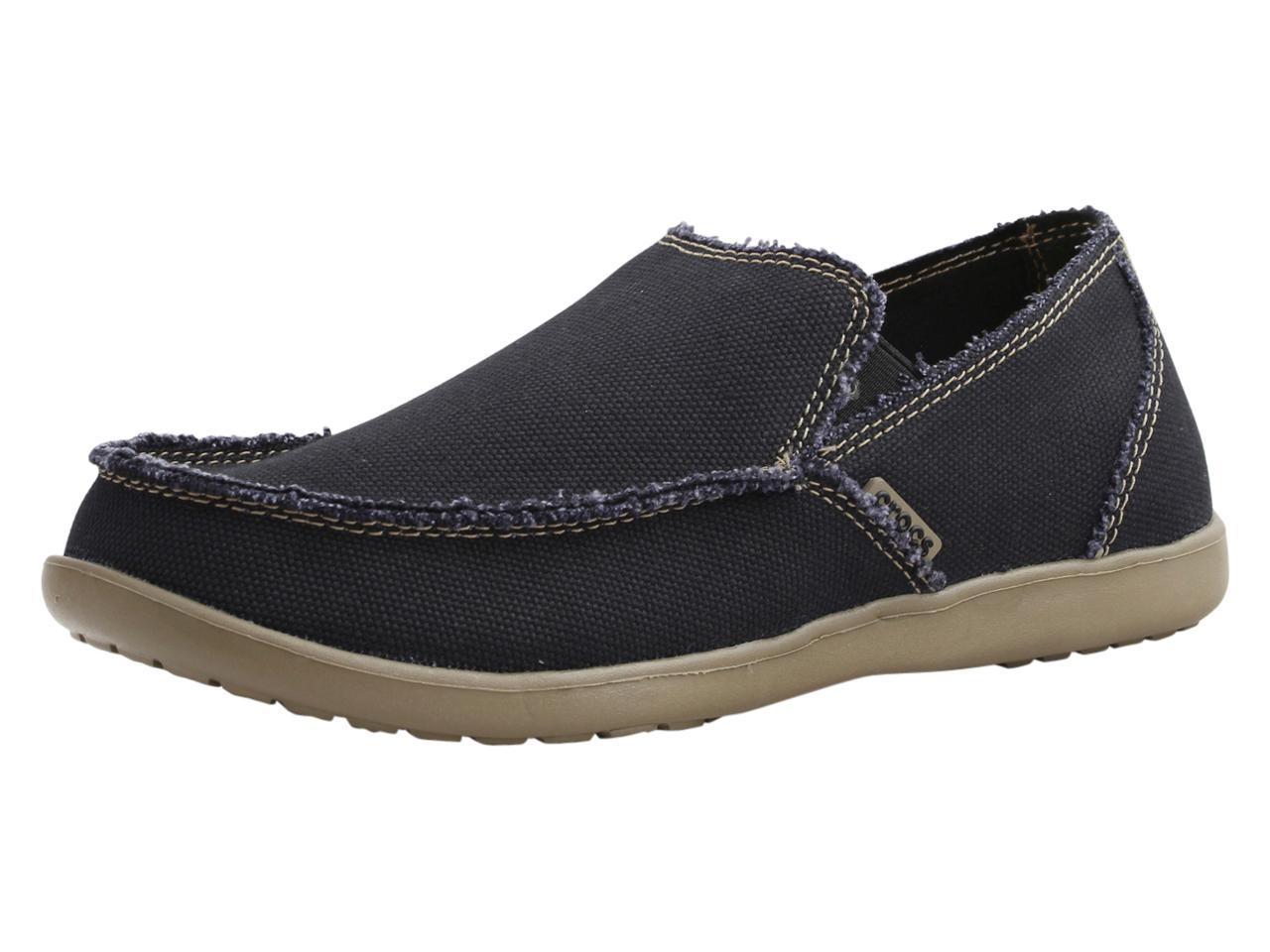 Image of Crocs Men's Santa Cruz Loafers Shoes - Black/Khaki - 13 D(M) US