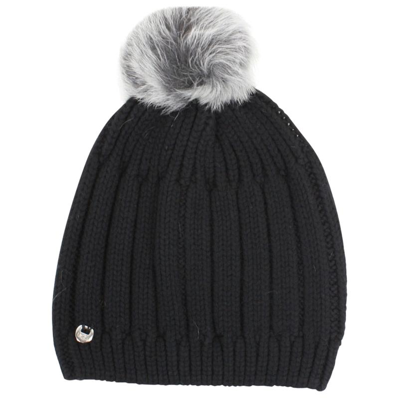 7e1623debc94a Ugg Women s Solid Ribbed Winter Beanie Hat With Pom (One Size)