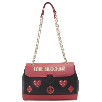 Love Moschino Women's Heart & Peace Patch Crossbody Handbag