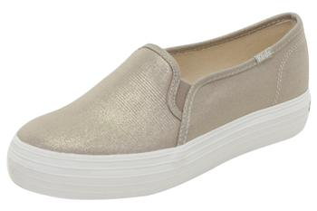 Keds Women's Triple Decker Metallic Canvas Sneakers Shoes WF55766-WF55768