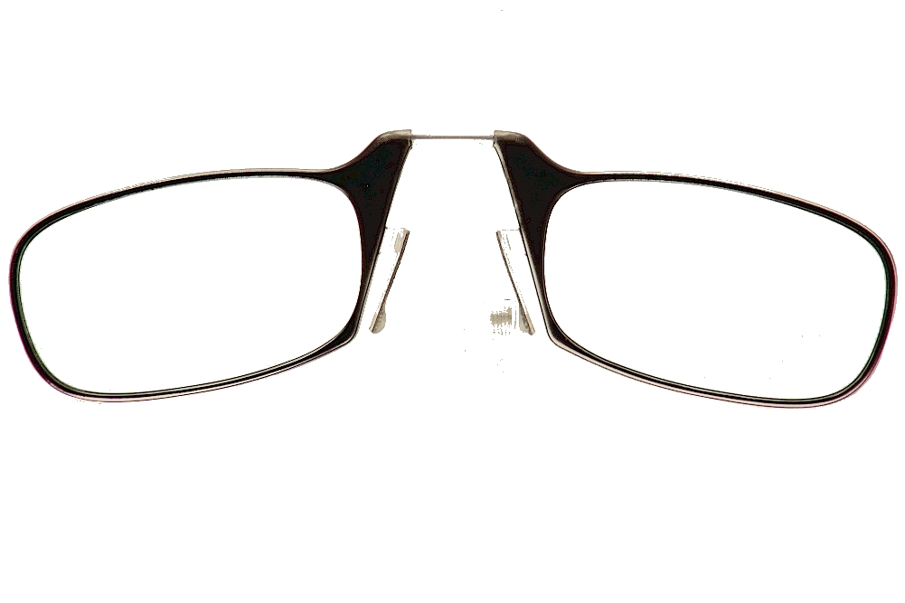 Image of ThinOPTICS Reading Glasses W/Universal Pod - Black With Clear Case - Strength: +1.50