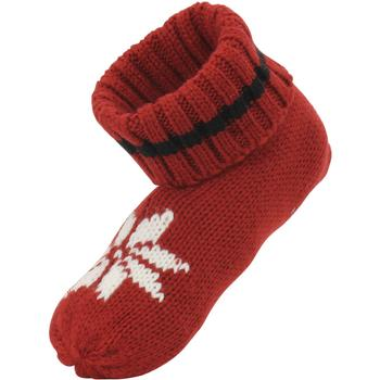 Ralph Lauren Women's Winter Cable Knit Ribbed Cuff Bootie Slipper Socks