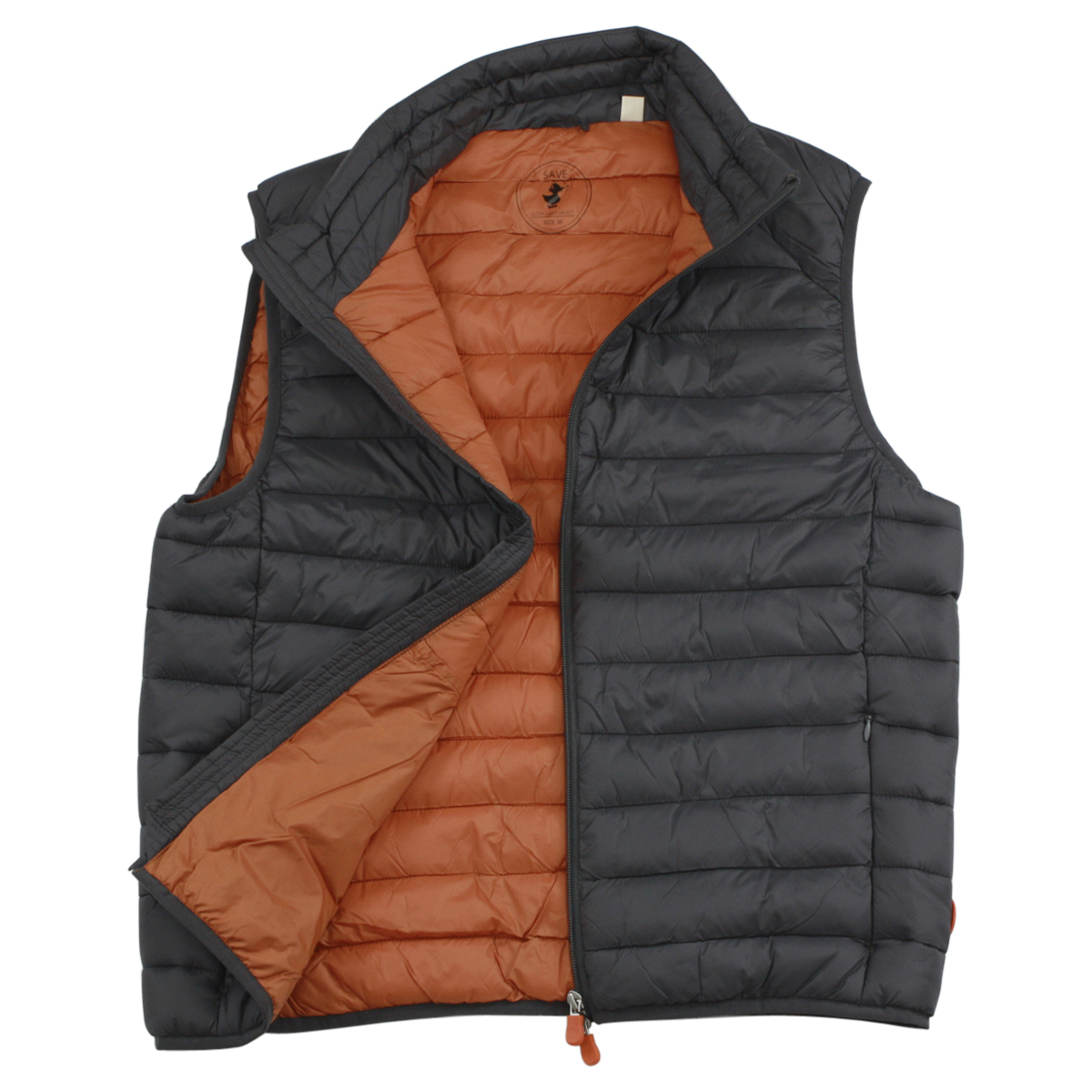 Image of Save The Duck Men's Lightweight Puffer Winter Vest - Grey - X Large