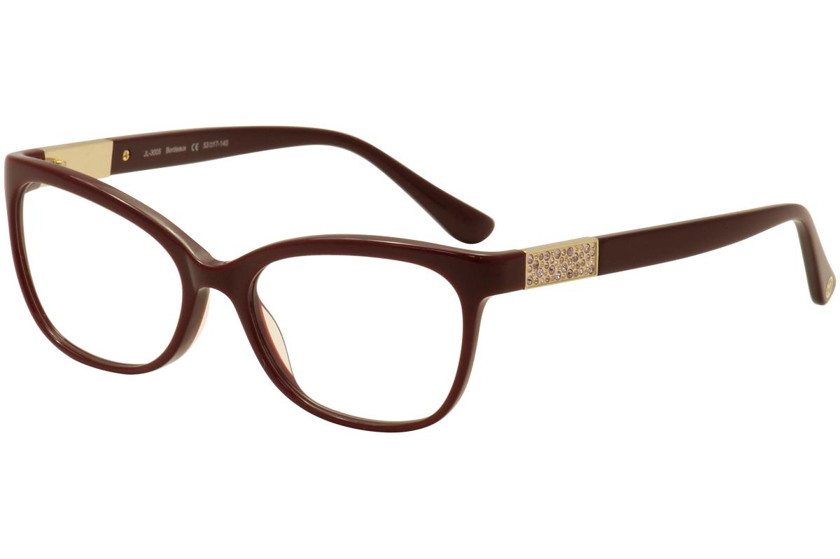 Image of JL By Judith Leiber Women's Eyeglasses JL3005 JL/3005 Full Rim Optical Frame - Red - Lens 53 Bridge 17 Temple 140mm