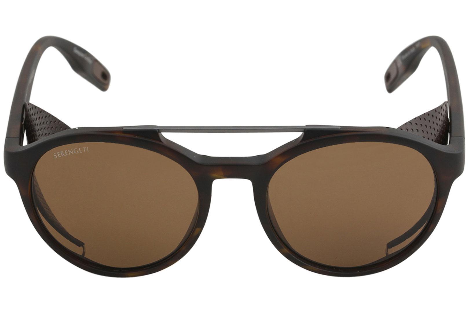 32949c058342 Serengeti Men's Leandro Glacier Fashion Pilot Polarized Sunglasses by  Serengeti. 12345