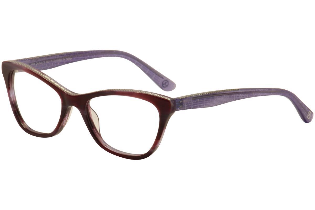 Image of JL By Judith Leiber Women's Eyeglasses JL3016 JL/3016 Full Rim Optical Frame - Purple - Lens 52 Bridge 17 Temple 140mm