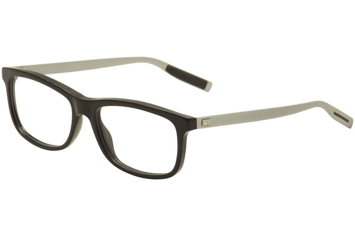 Image of Dior Homme By Christian Dior Eyeglasses Black Tie 199 Black/Pallad Optical Frame - Black - Lens 56 Bridge 17 Temple 145mm