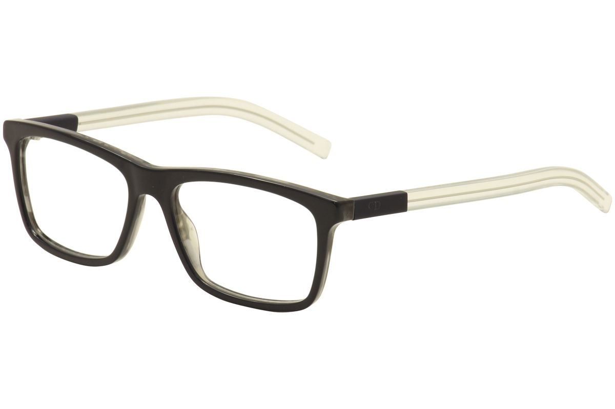 Image of Dior Homme By Christian Dior Eyeglasses Black Tie 215 Blk/Havana Optical Frame - Black - Lens 54 Bridge 16 Temple 145mm