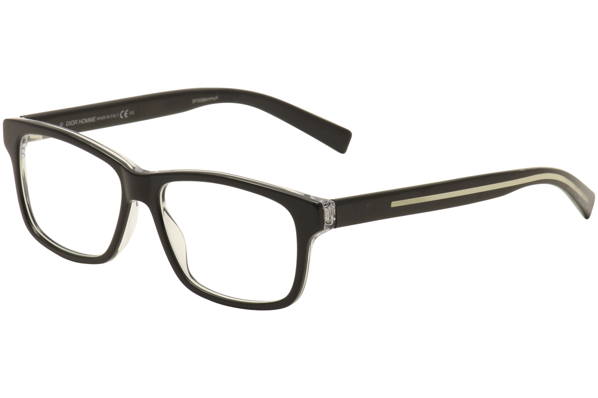 Image of Dior Homme By Christian Dior Eyeglasses Black Tie 204 Black/Clear Optical Frame - Black - Lens 54 Bridge 15 Temple 150mm