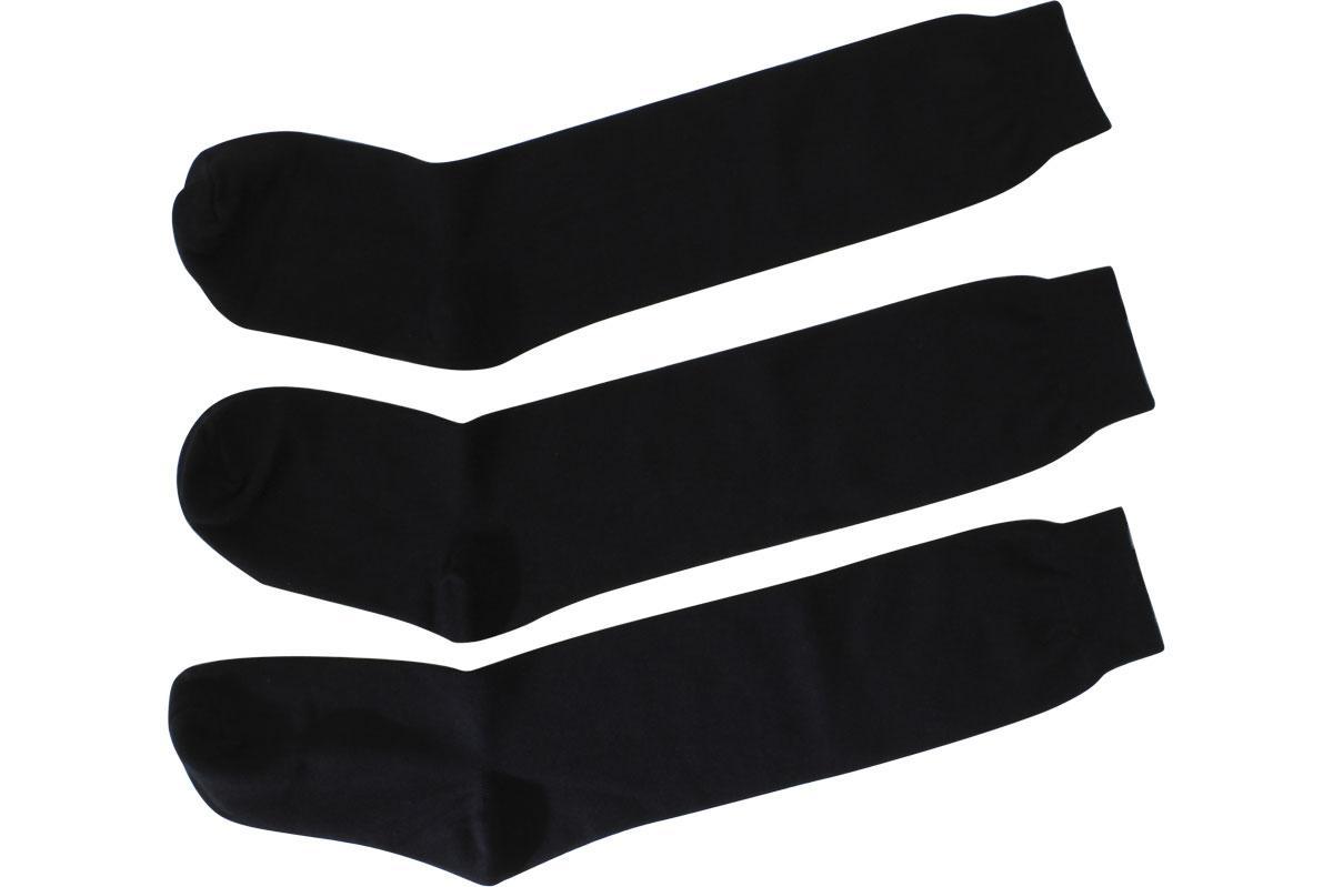 Image of Jefferies Socks Girl's 3 Pairs School Uniform Knee High Socks - Black - Medium; Fits Shoe 12 6 (Little Kid)