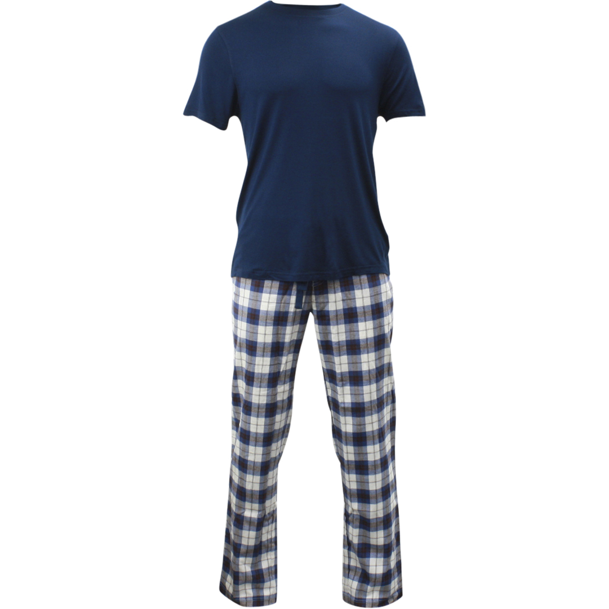 Image of Ugg Men's Grant Pants & Short Sleeve Shirt Pajama Set - Blue - Large