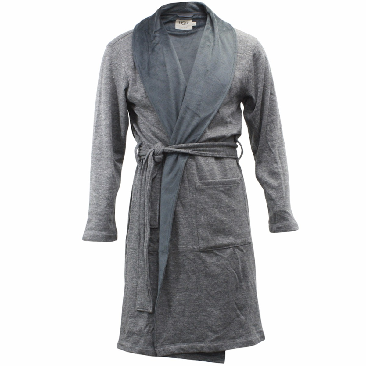 Image of Ugg Men's Robinson Relaxed Fit Fleece Lined Robe - Grey - X Large