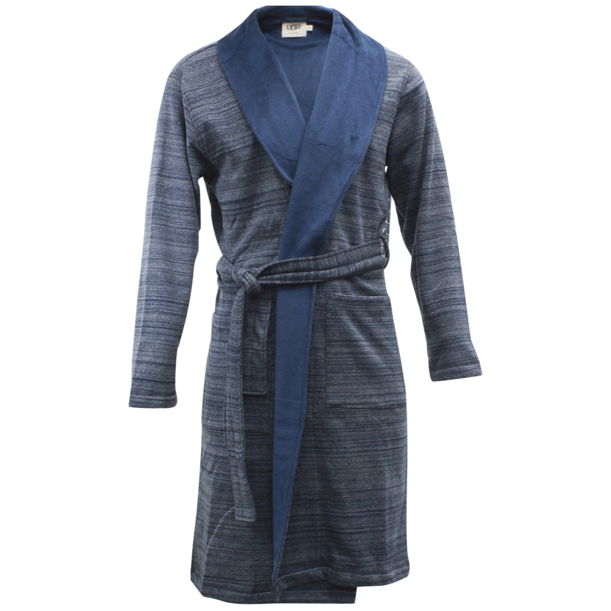 Image of Ugg Men's Robinson Relaxed Fit Fleece Lined Robe - Blue - Large