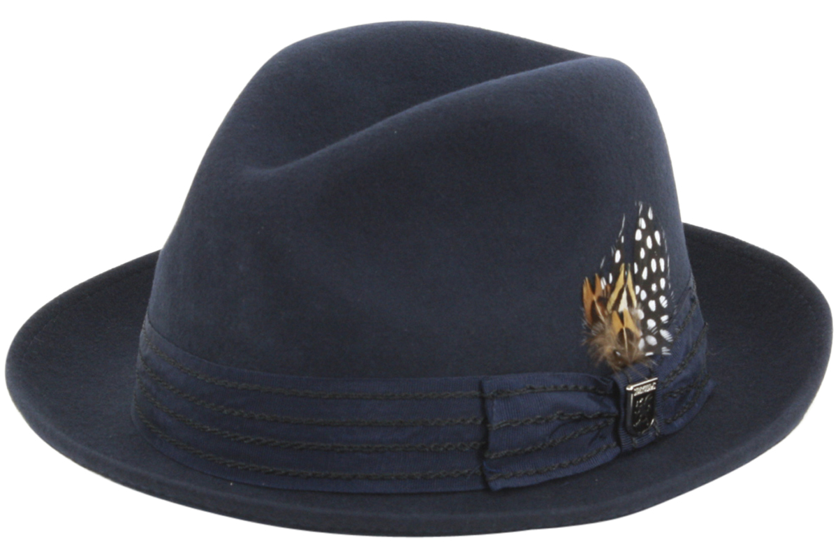 f1828c2baa4 Stacy Adams Men s Wool Pinch Front Fedora Hat