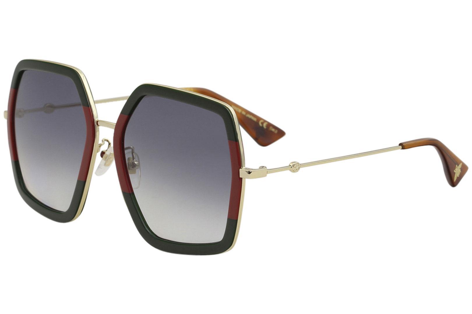 b894aad45 Gucci Women's GG0106S GG/0106S Square Sunglasses