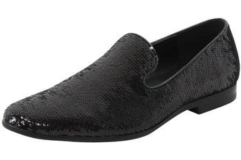 2a8a0b5f4f8 Giorgio Brutini Men s Covert Sequined Smoking Slipper Dressy Loafers Shoes