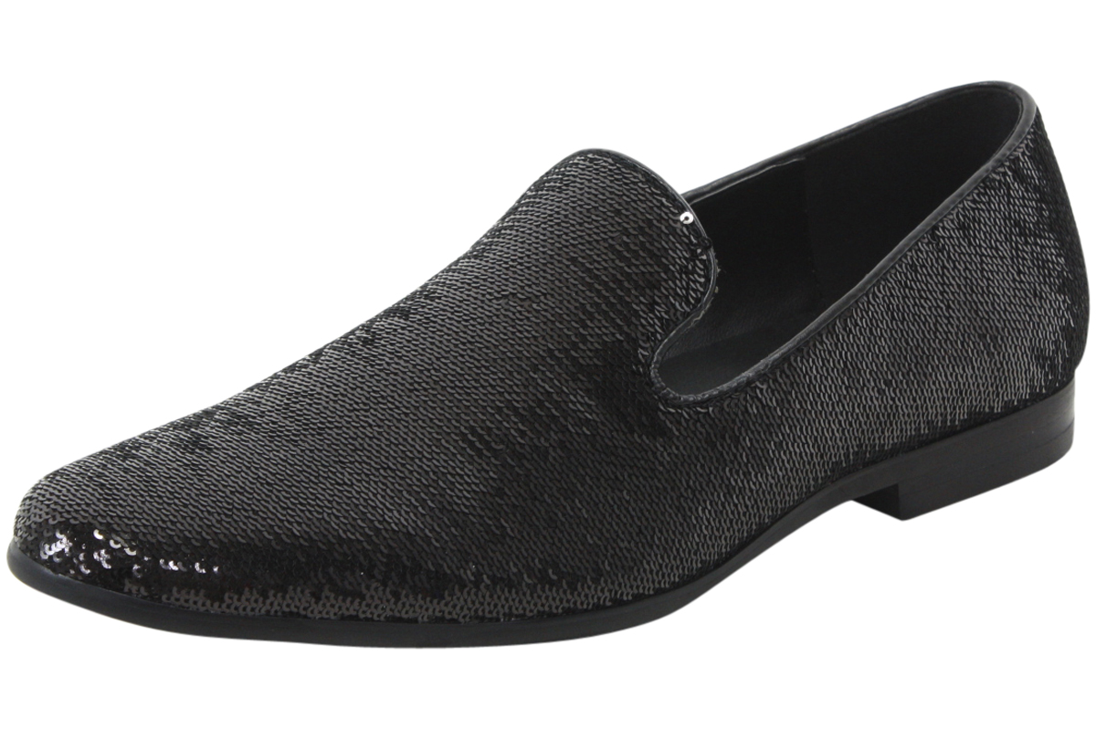 773a6175138 Giorgio Brutini Men s Covert Sequined Smoking Slipper Dressy Loafers ...