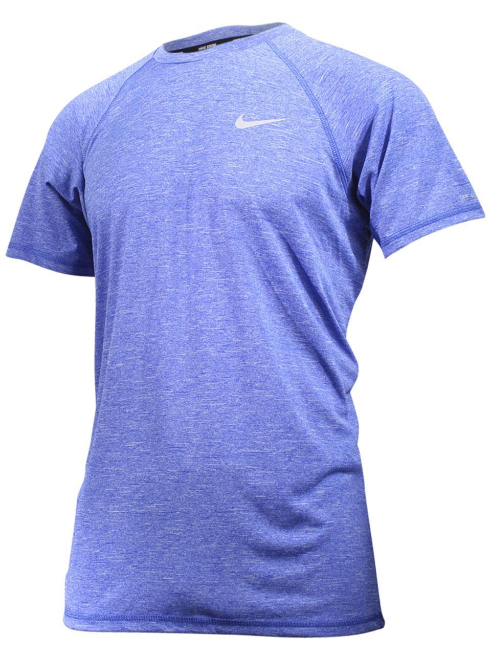 79cc47a0f Nike Men's Heather Short Sleeve Hydroguard Shirt Swimwear
