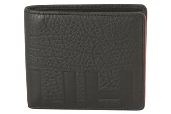 Hugo Boss Men's Victorian Buffalo-Embossed Genuine Leather Bi-Fold Wallet