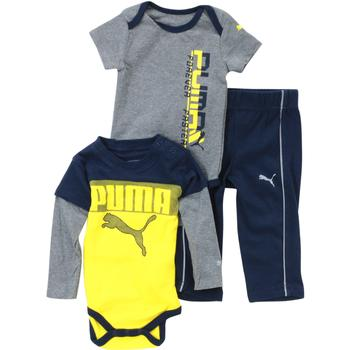 Puma Infant Boy s Time To Play 3 Piece Newborn Bodysuit Pant Set