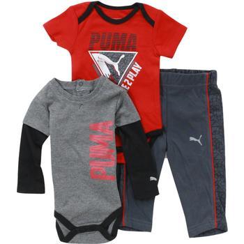 5bc115e108a7 Puma Infant Boy s Forever Faster 3-Piece Newborn Bodysuit   Pant Set