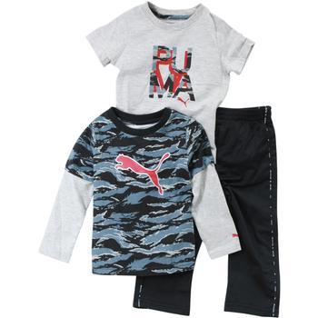 1f58e878 Puma Infant Boy's Cat Logo 3-Piece Newborn Bodysuit & Pant Set