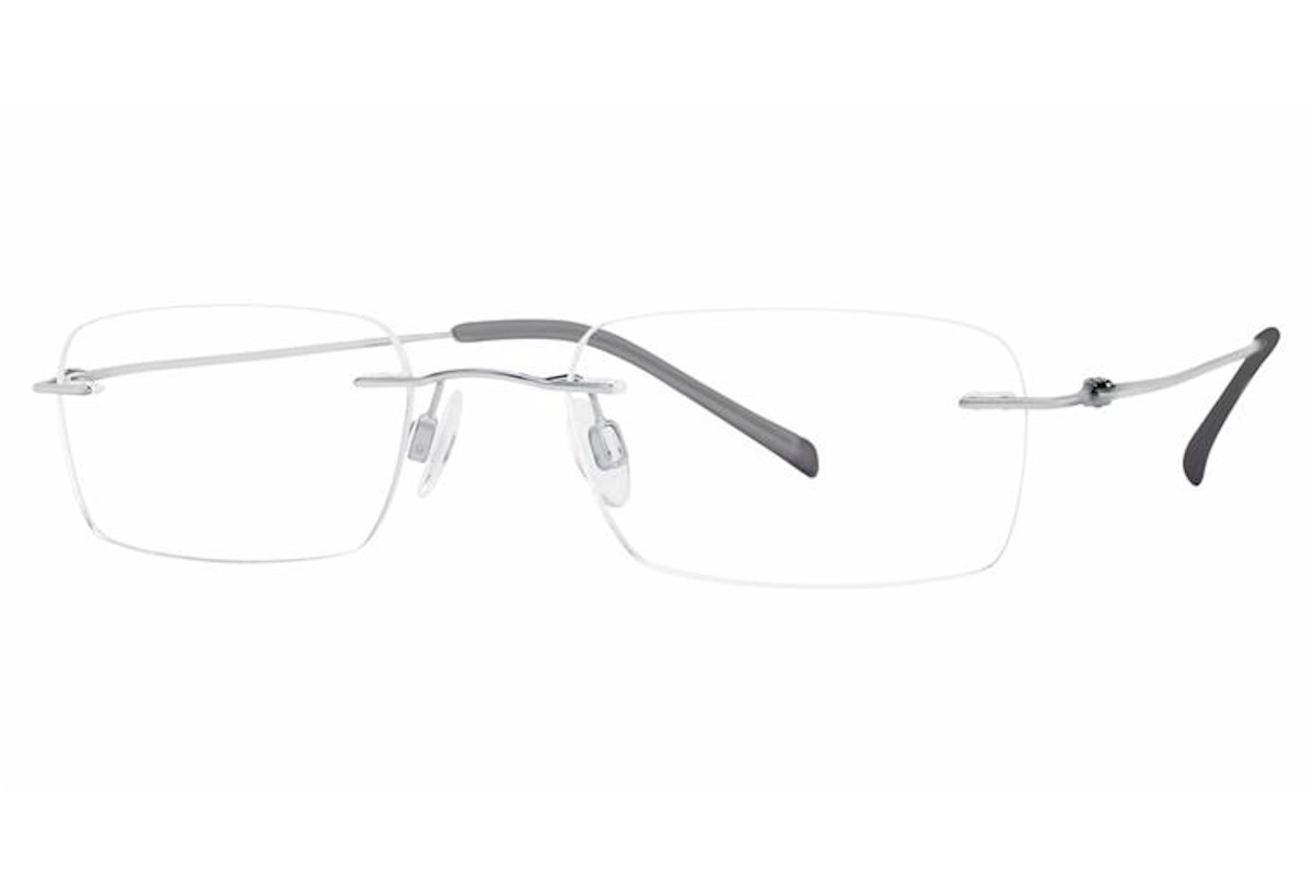 Charmant Men S Eyeglasses Ti8333e Ti 8333e Titanium Rimless Optical Frame