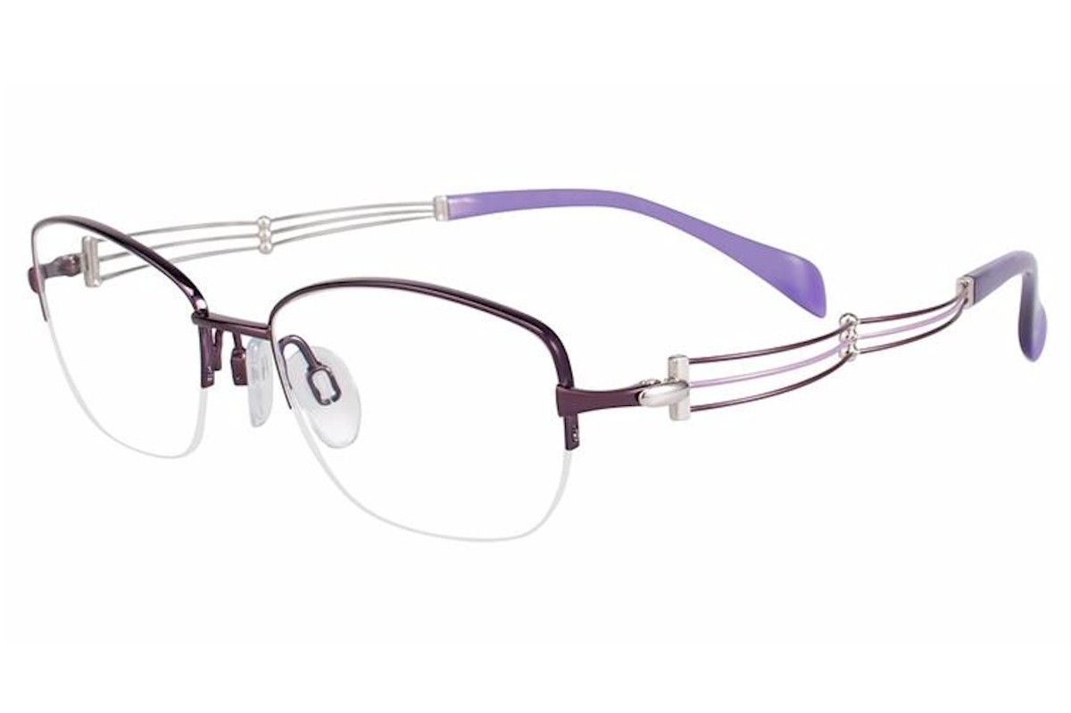 Charmant Line Art Women S Eyeglasses Xl2076 Xl 2076 Half Rim Optical Frame