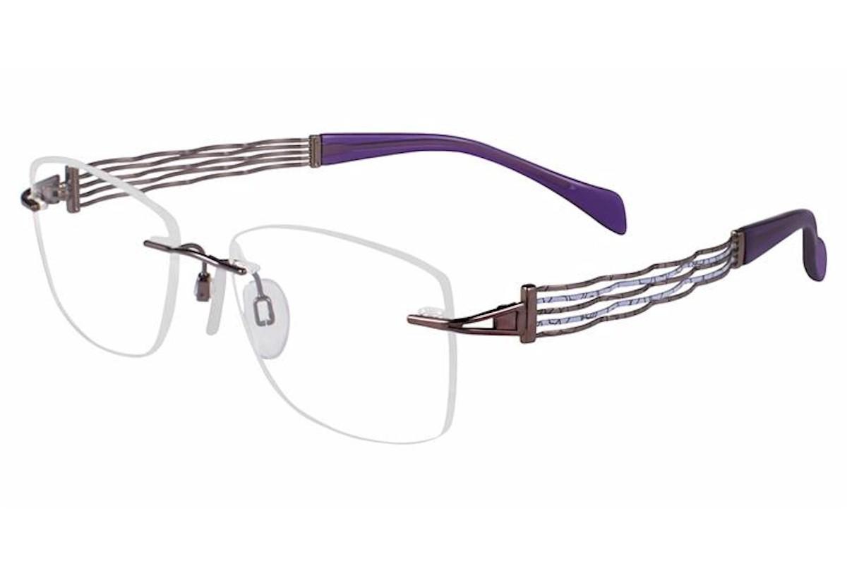 Charmant Line Art Women S Eyeglasses Xl2082 Xl 2082 Rimless Optical Frame