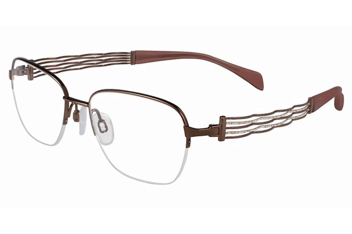 Charmant Line Art Eyeglasses Xl2084 Xl 2084 Titanium Half Rim Optical Frame