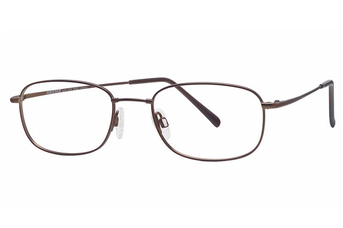 Image of Aristar by Charmant Men's Eyeglasses AR6020 AR/6020 Full Rim Optical Frame - Brown   035 - Lens 51 Bridge 19 Temple 140mm