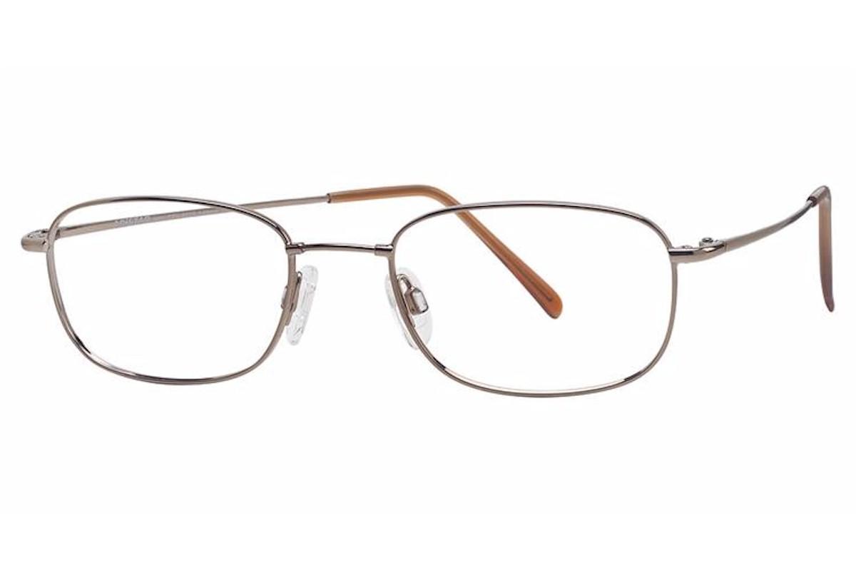 Image of Aristar by Charmant Men's Eyeglasses AR6020 AR/6020 Full Rim Optical Frame - Light Brown   073 - Lens 51 Bridge 19 Temple 140mm