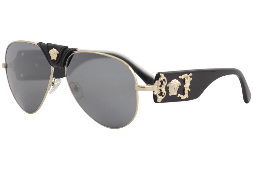 c10bde13d5 Versace 2150Q 2150-Q Fashion Genuine Leather Pilot Sunglasses