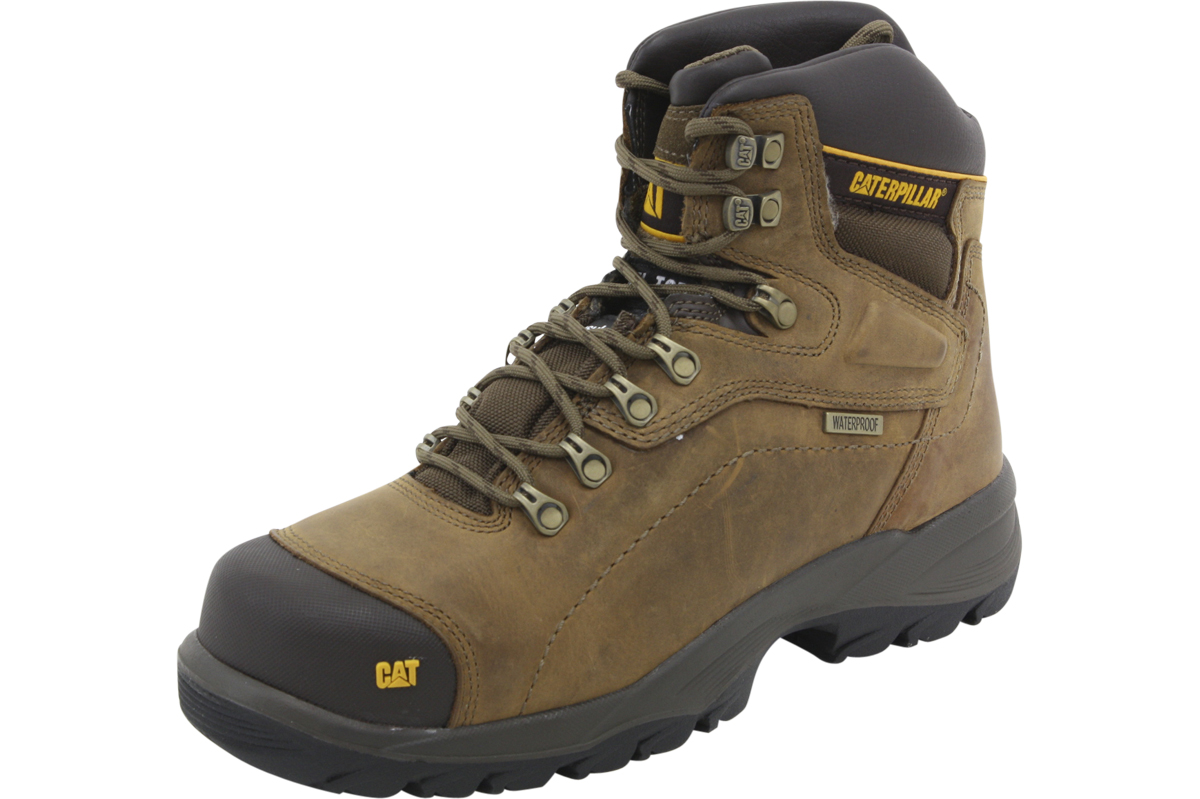 Image of Caterpillar Men's Diagnostic Hi Waterproof Work Boots Shoes - Brown - 10.5 D(M) US