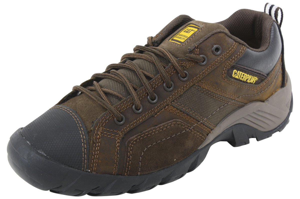Image of Caterpillar Men's Argon Slip Resistant Work Sneakers Shoes - Brown - 10 D(M) US