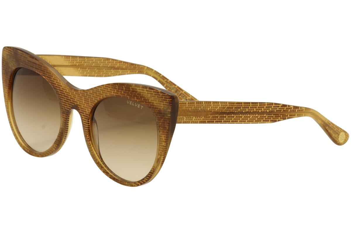 Image of Velvet Women's Michelle V025 V/025 Fashion Cat Eye Sunglasses - Gold - Lens 49 Bridge 21 Temple 140mm