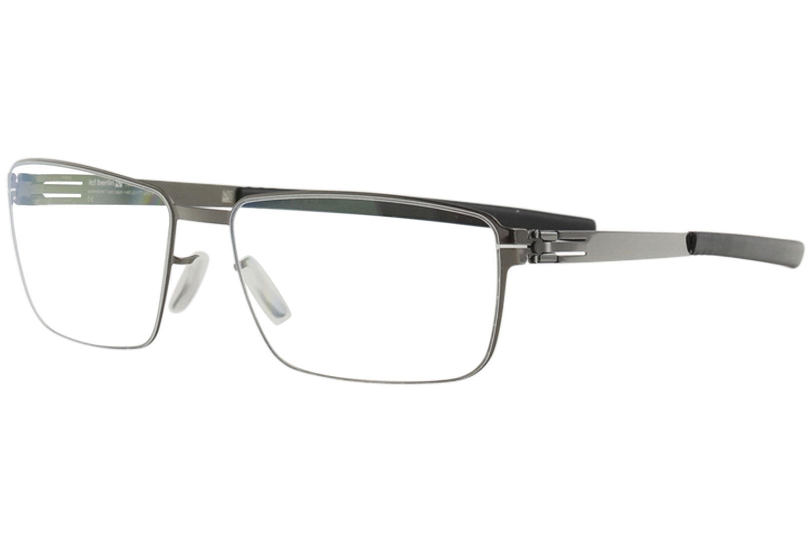 Image of IC! Berlin Men's Eyeglasses Dr. Kauermann Full Rim Flex Optical Frame - Gold - Lens 55 Bridge 17 Temple 150mm