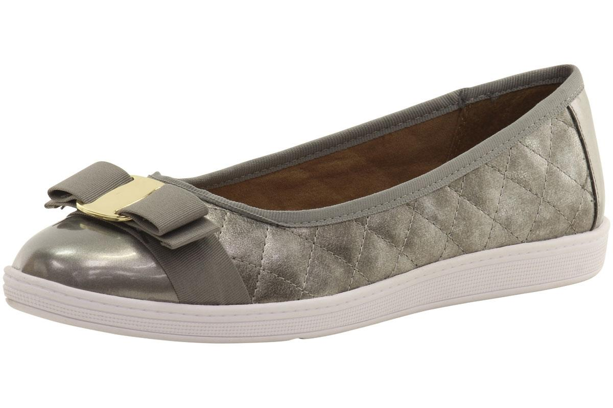 Image of Soft Style By Hush Puppies Women's Faeth Quilted Ballet Flats Shoes - Pewter - 6.5 B(M) US