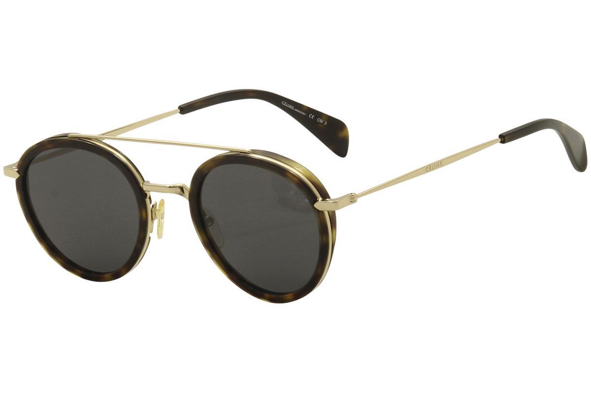 bdd590da59 ... havana frame gold UPC 762753408648 product image for Celine Women s  CL41424S CL 41424 S Round Sunglasses ...