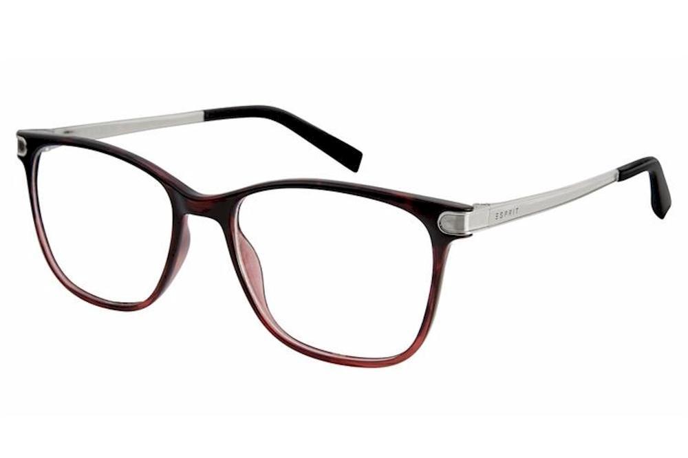 Image of Esprit Women's Eyeglasses ET17548 ET/17548 Full Rim Optical Frame - Wine   513 - Lens 51 Bridge 16 Temple 135mm