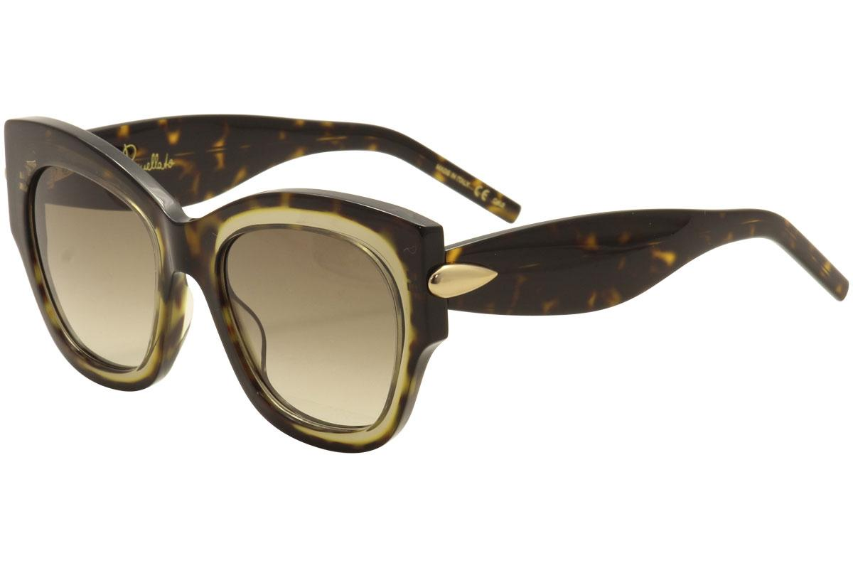 Image of Pomellato PM0008S PM/0008/S Fashion Sunglasses - Dark Tortoise Tan Crystal Gold/Brown Grad  002  -  Lens 52 Bridge 20 Temple 140mm