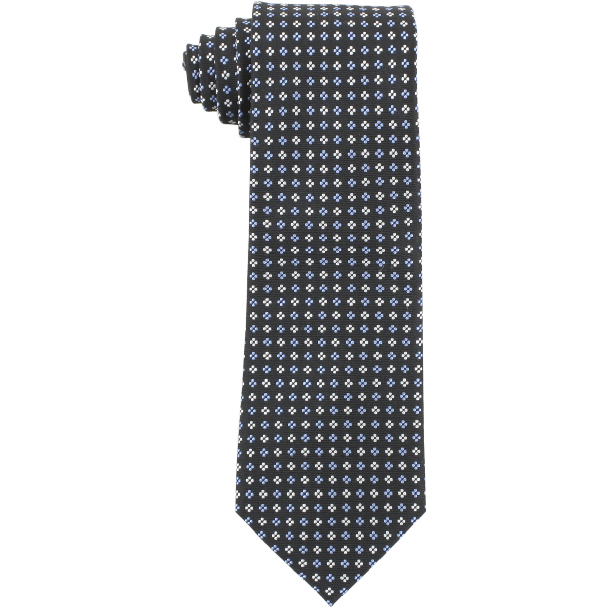 Image of Tommy Hilfiger Men's Silk Core Neat II Print Tie - Black - 3.25 Inch