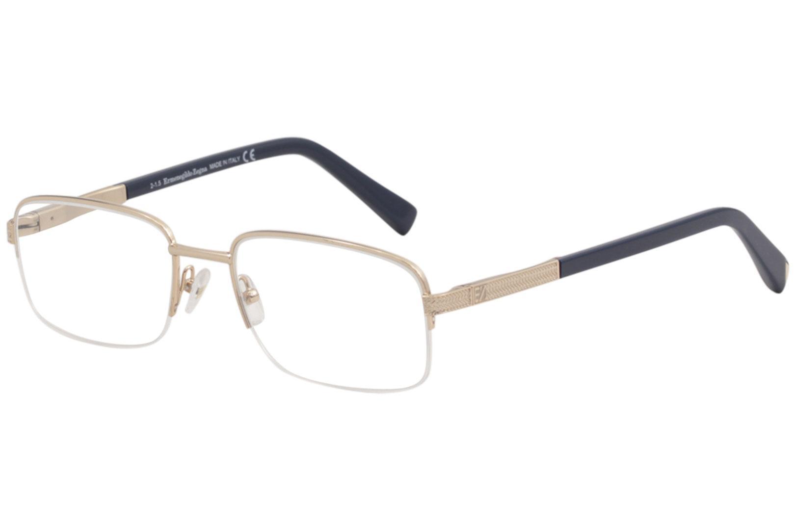 e121426fba2 Ermenegildo Zegna Men s Eyeglasses EZ5011 EZ 5011 Half Rim Optical Frame