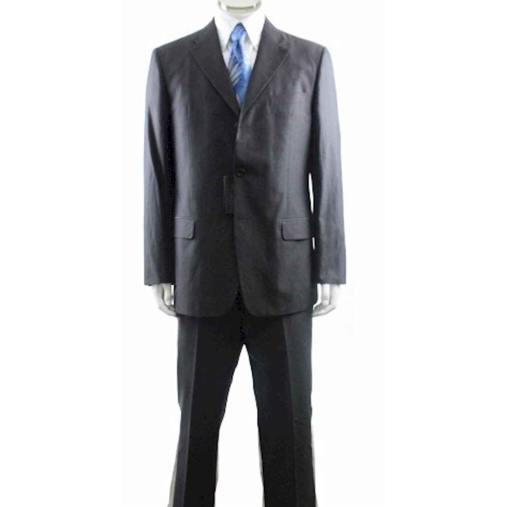 Valentino Suit Men s 3 buttons Charcoal 100 Cotton 2 Back Vent