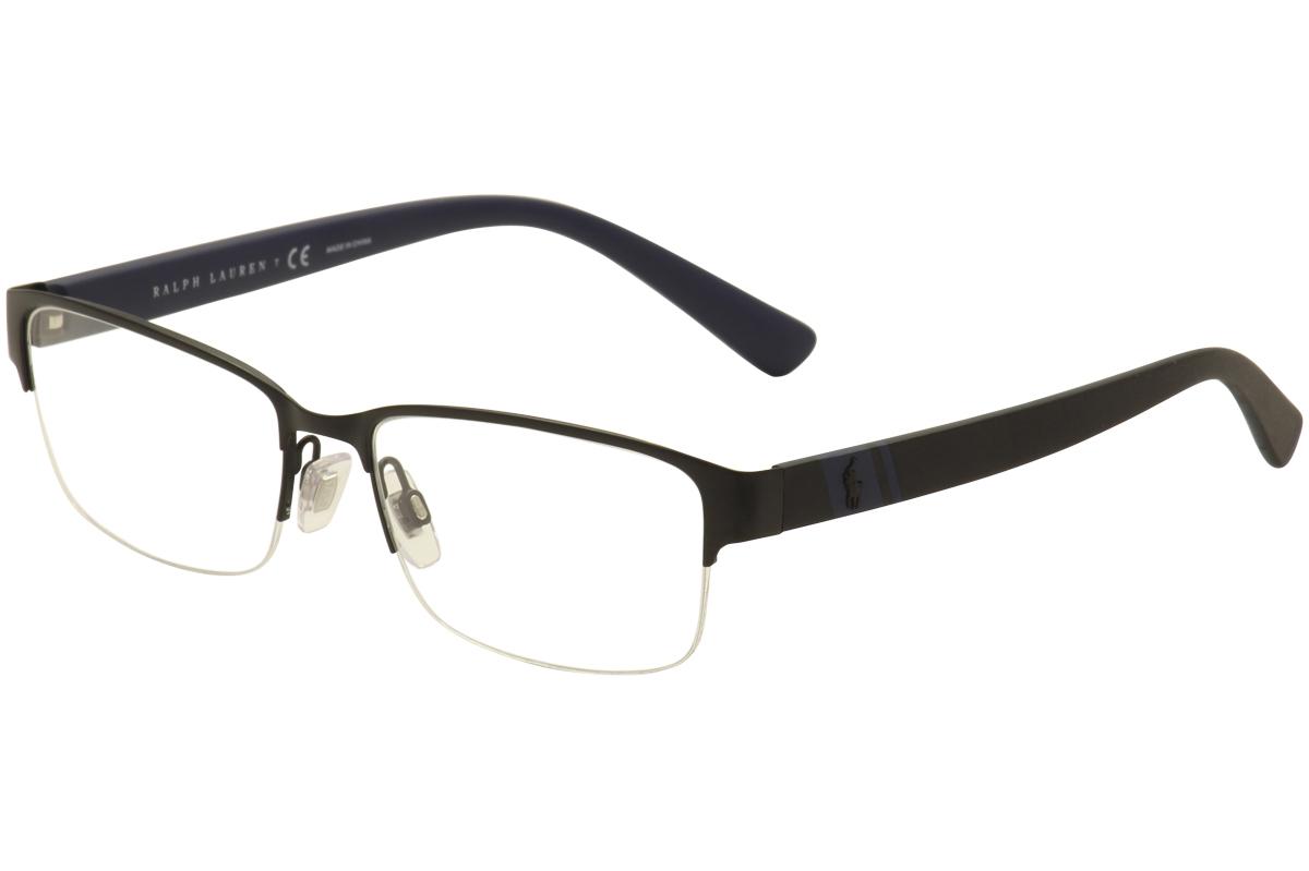 Polo Ralph Lauren Men\'s Eyeglasses PH1162 PH/1162 Half Rim Optical Frame