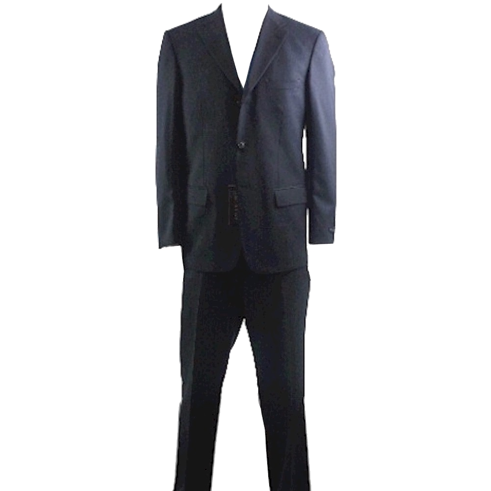 Valentino Suit Men s 3 buttons Black 100 Wool 2 Back Vent Suits
